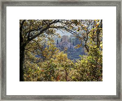 Autumn In Chianti Framed Print by Eggers Photography