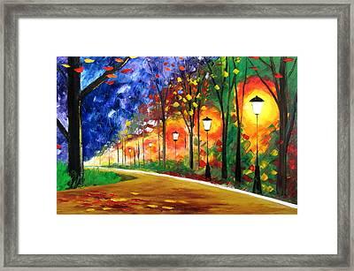 Autumn In My Heart Framed Print by Mariana Stauffer