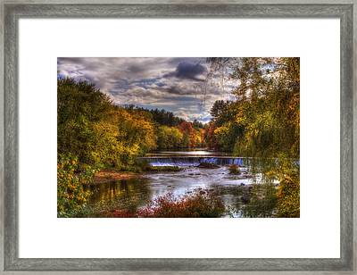 Autumn In New England - Contoocook Nh Framed Print by Joann Vitali