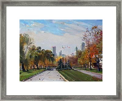 Autumn In Niagara Falls State Park Framed Print by Ylli Haruni