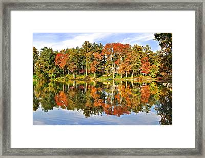 Autumn In Ohio Framed Print by Frozen in Time Fine Art Photography