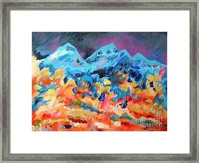 Autumn In Our Mountains Framed Print by Viskan