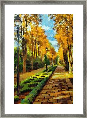 Autumn In Public Gardens Framed Print by Jeff Kolker