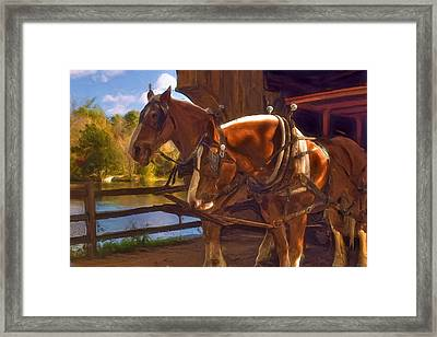 Autumn In Sturbridge Framed Print by Joann Vitali