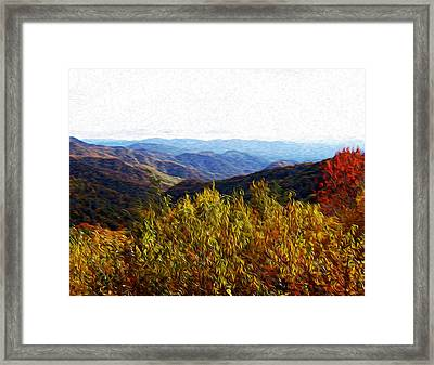 Autumn In The Smokey Mountains Framed Print by Phil Perkins