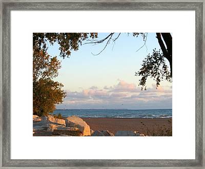 Autumn Lakeside Framed Print by Kay Novy
