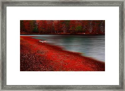 Autumn Land Framed Print by Lourry Legarde