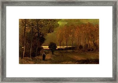 Autumn Landscape At Dusk 1885 Framed Print by Vincent Van Gogh
