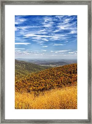 Autumn Layers Framed Print by Kim Hojnacki
