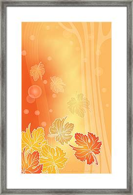 Autumn Leaves Framed Print by Gayle Odsather