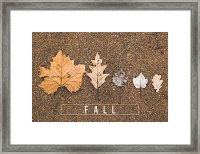 Autumn Leaves On The Ground Framed Print by Aldona Pivoriene
