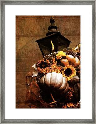 Autumn Light Post Framed Print by Dan Sproul
