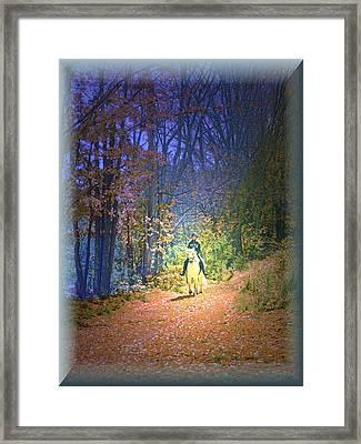 Autumn Memories- The Dreams Of Children Framed Print by Patricia Keller