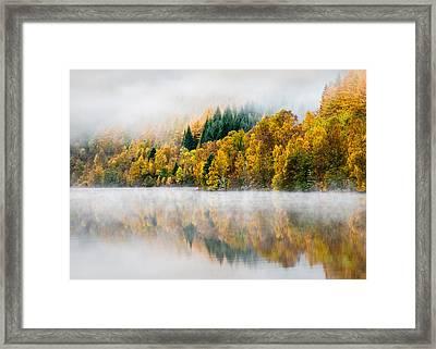 Autumn Mist Framed Print by Dave Bowman