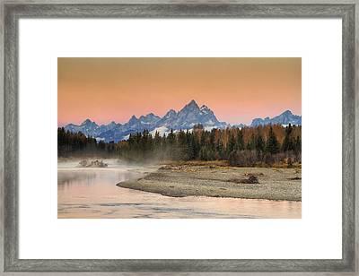 Autumn Mist Framed Print by Mark Kiver