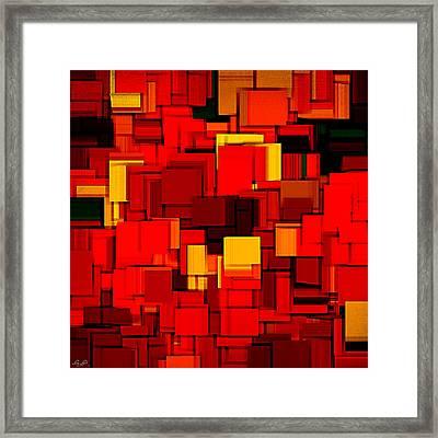 Autumn Modern Abstract Xv Framed Print by Lourry Legarde
