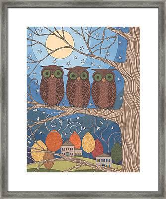 Autumn Moon Framed Print by Pamela Schiermeyer