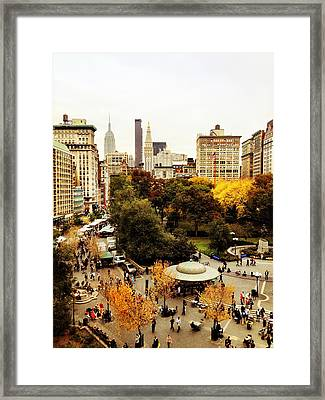 Autumn - New York Framed Print by Vivienne Gucwa