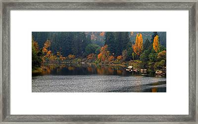 Autumn On The Umpqua Framed Print by Suzy Piatt