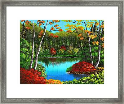 Autumn On The Water Framed Print by Cyndi Kingsley