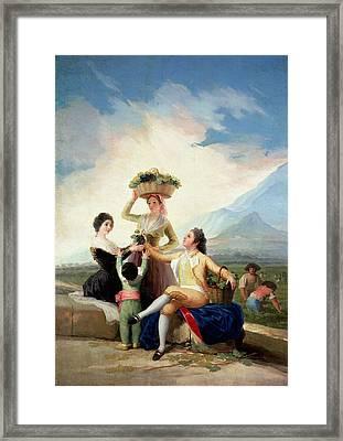 Autumn, Or The Grape Harvest, 1786-87 Oil On Canvas Framed Print by Francisco Jose de Goya y Lucientes