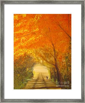 Autumn - Original Oil Painting  Framed Print by Anthony Morretta