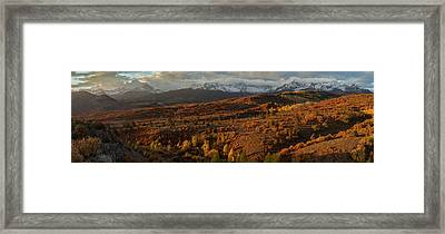 Autumn Panorama Framed Print by Jennifer Grover