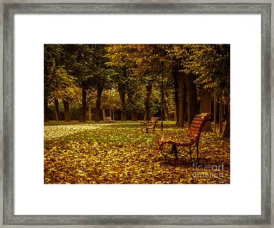 Autumn Park Framed Print by Prints of Italy