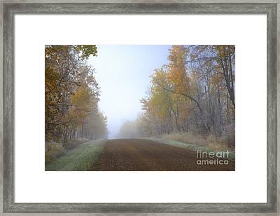 Autumn Prairie Roads Framed Print by Dan Jurak