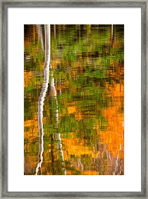 Autumn Reflections Framed Print by Jeff Sinon