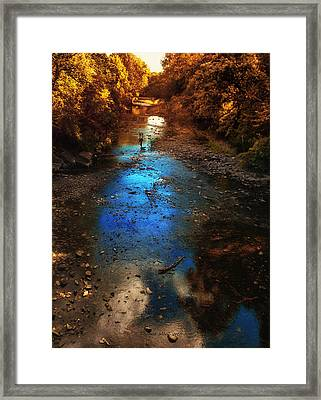 Autumn Reflections On The Tributary Framed Print by Thomas Woolworth