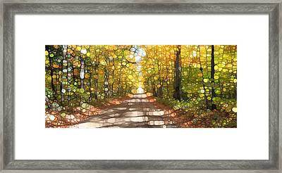 Autumn Road Mosaic Framed Print by Dan Sproul