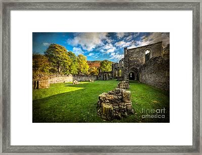 Autumn Ruins Framed Print by Adrian Evans