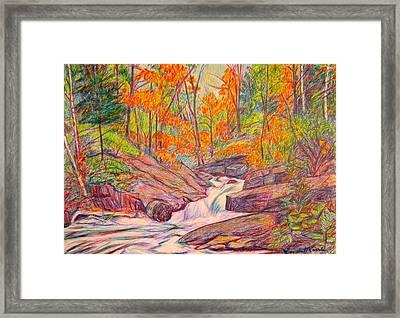 Autumn Rush Framed Print by Kendall Kessler