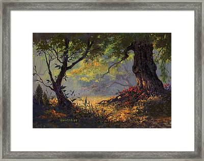 Autumn Shade Framed Print by Michael Humphries
