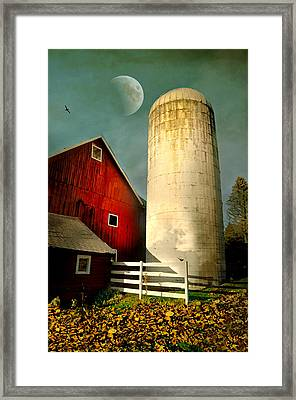 Autumn Silo Framed Print by Diana Angstadt