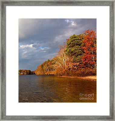 Autumn Storm Approaching Framed Print by Michelle Wiarda