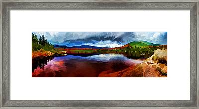 Autumn Storm At Roaring Brook Framed Print by ABeautifulSky Photography