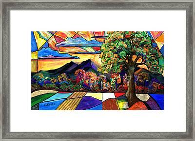 Autumn Sunrise Framed Print by Everett Spruill