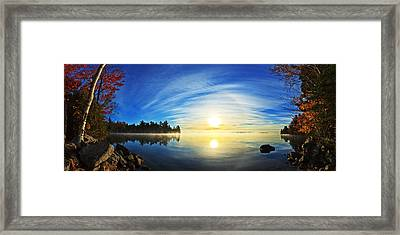Autumn Sunrise At Meddybemps Panorama Framed Print by Bill Caldwell -        ABeautifulSky Photography
