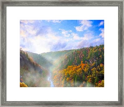 Autumn Sunrise In Tallulah Gorge Framed Print by Mark E Tisdale
