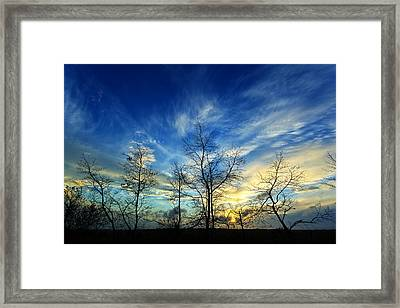 Autumn Sunset Framed Print by Bill Caldwell -        ABeautifulSky Photography