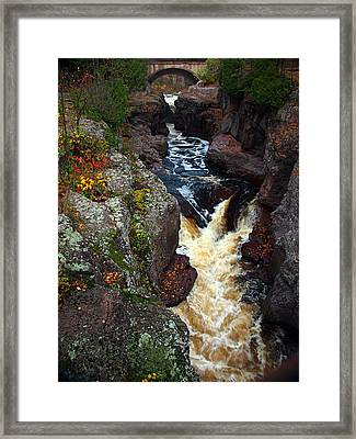 Autumn Temperance River Framed Print by James Peterson