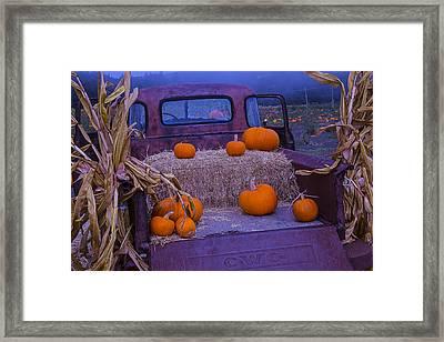 Autumn Truck Framed Print by Garry Gay