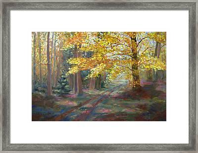 Autumn Walk Framed Print by Robie Benve