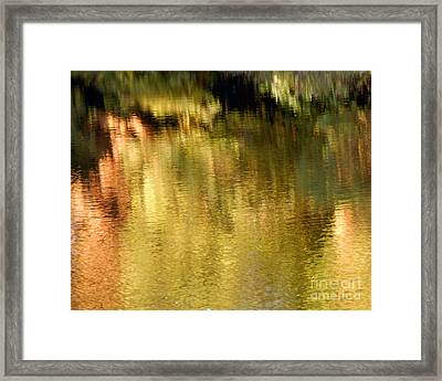 Autumn Water Framed Print by Lee Craig