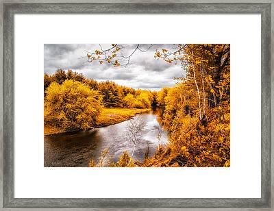 Autumn White Mountains Maine Framed Print by Bob Orsillo