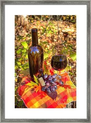 Autumn Wine Framed Print by Jimmy Ostgard