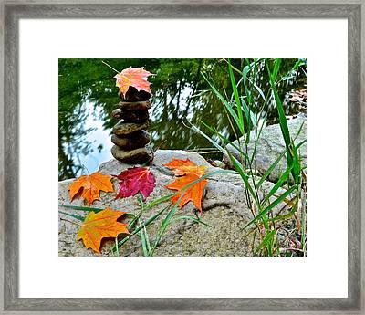 Autumn Zen Framed Print by Frozen in Time Fine Art Photography