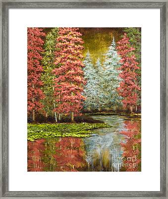 Autumn's Brilliance Framed Print by Vic  Mastis